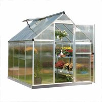 Palram Mythos - 6' x 8' - Silver - Walk-In Greenhouse