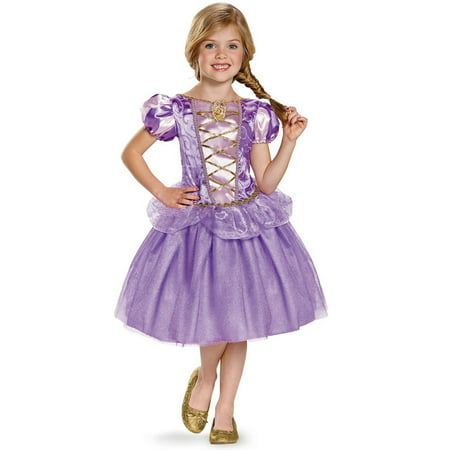 Disney's Tangled Rapunzel Classic Costume for Kids - Rapunzel Flynn Rider Halloween Costumes