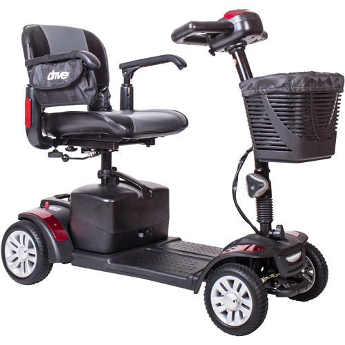 Drive Medical Spitfire EX Compact Travel Power Mobility Scooter, 21AH Battery, 4 Wheel