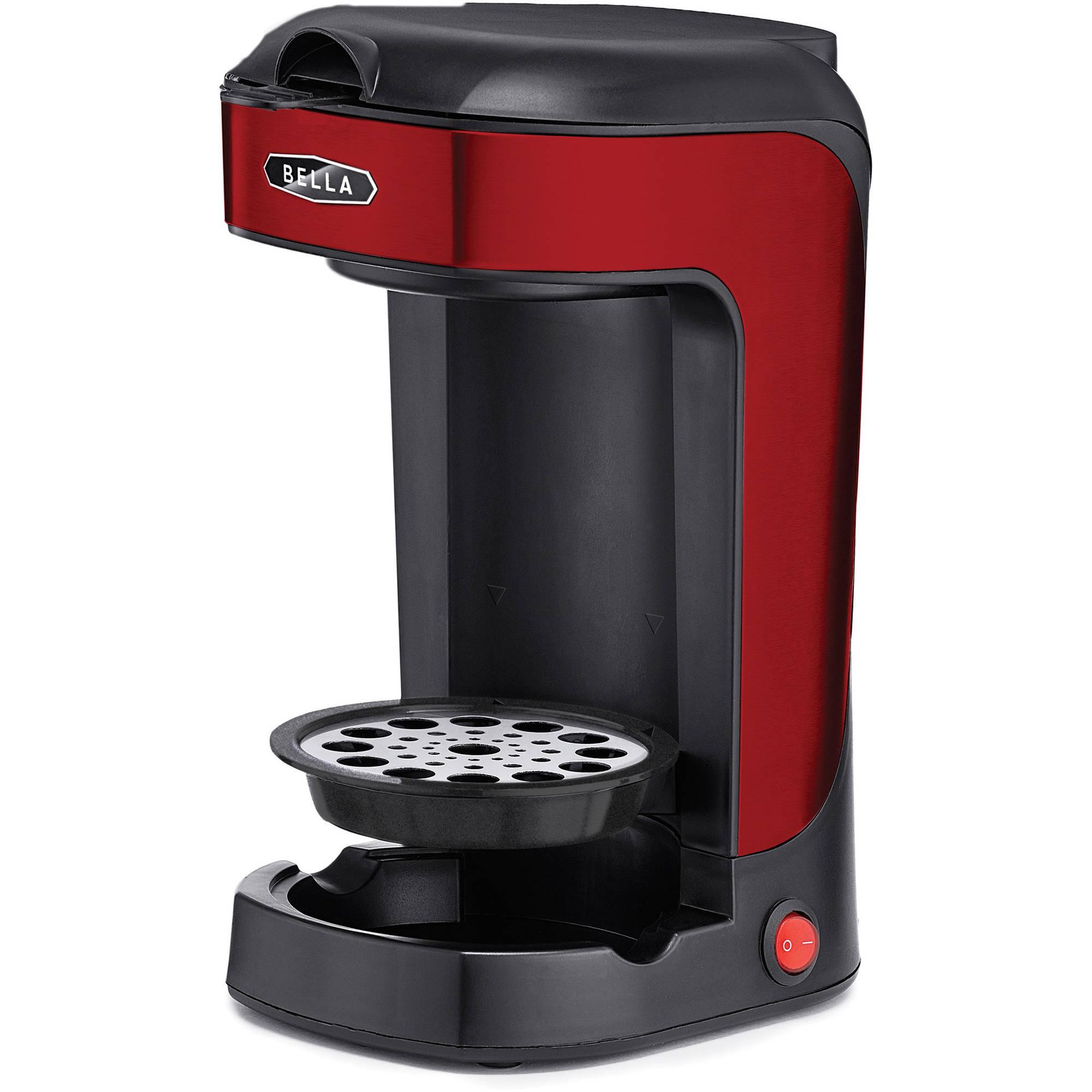 BELLA Single Scoop Coffee Maker, Red