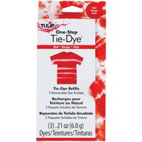 Tulip One-Step Tie-Dye Refill .13oz 3/Pkg-Red