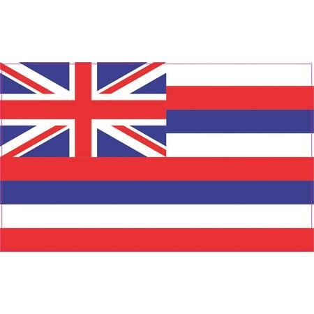 State Flag Bumper Sticker - 5inx3in Hawaii Hawaiian State Flag Bumper Sticker Decal Window Stickers Car Decals