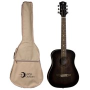 Luna Guitars Safari Artist Vintage Travel Guitar W/ Gigbag, SAF ART VINTAGE