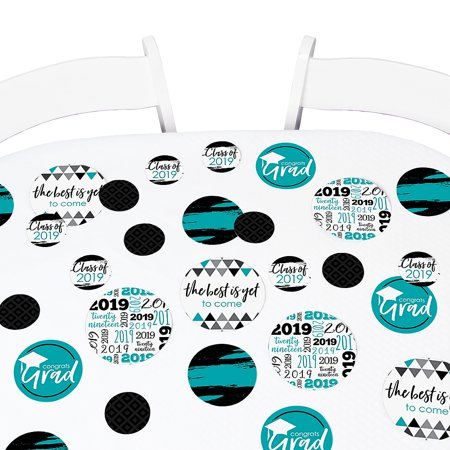 Teal Grad - Best is Yet to Come - 2019 Graduation Giant Circle Confetti -  Grad Party Decor - Large Confetti 27