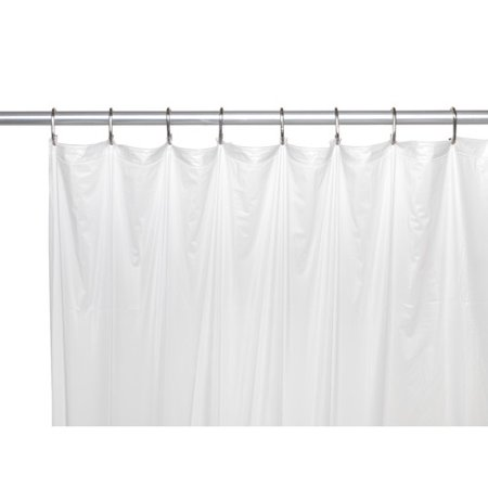 Extra Long 5 Gauge Vinyl Shower Curtain Liner With Metal Grommets In Frosty Clear Size 72 Wide