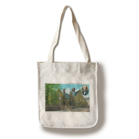 Salem, MA - Exterior View of the House of Seven Gables # 2, built in 1668 (100% Cotton Tote Bag - Reusable) (Ma Salem Halloween)