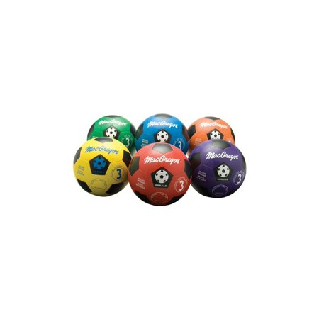 6-Pc Size 3 Soccer Prism Ball Set in Multicolor