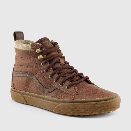 Vans SK8 Hi MTE Brown/Herringbone Women's Skate Shoes Size 7.5