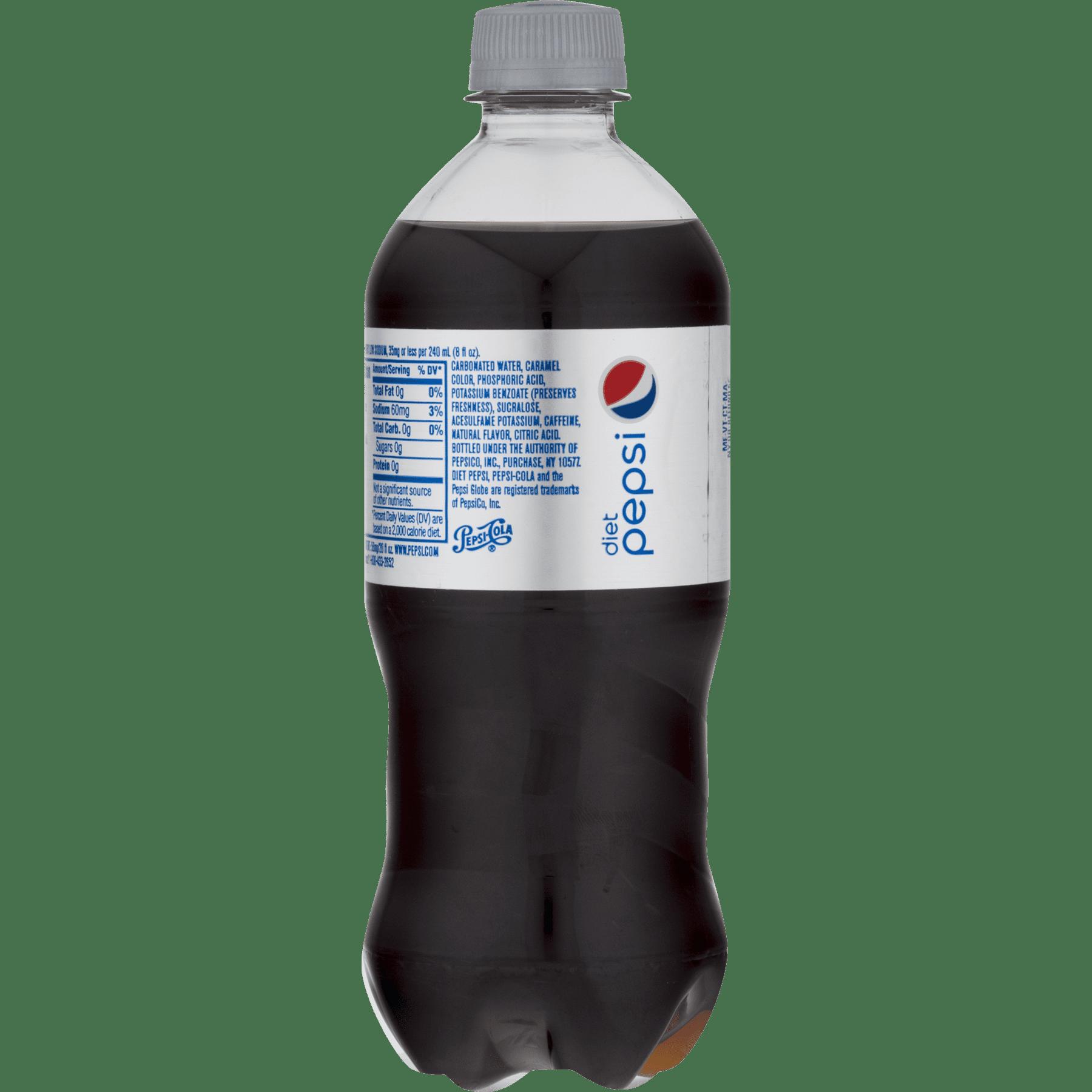 Diet Pepsi Cola 20 fl. oz. Plastic Bottle - Walmart.com