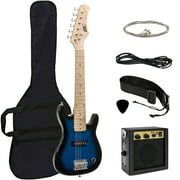 Best Choice Products 30in Kids Electric Guitar Beginner Starter Kit w/ 5W Amplifier, Strap, Case, Strings, Picks - Blue