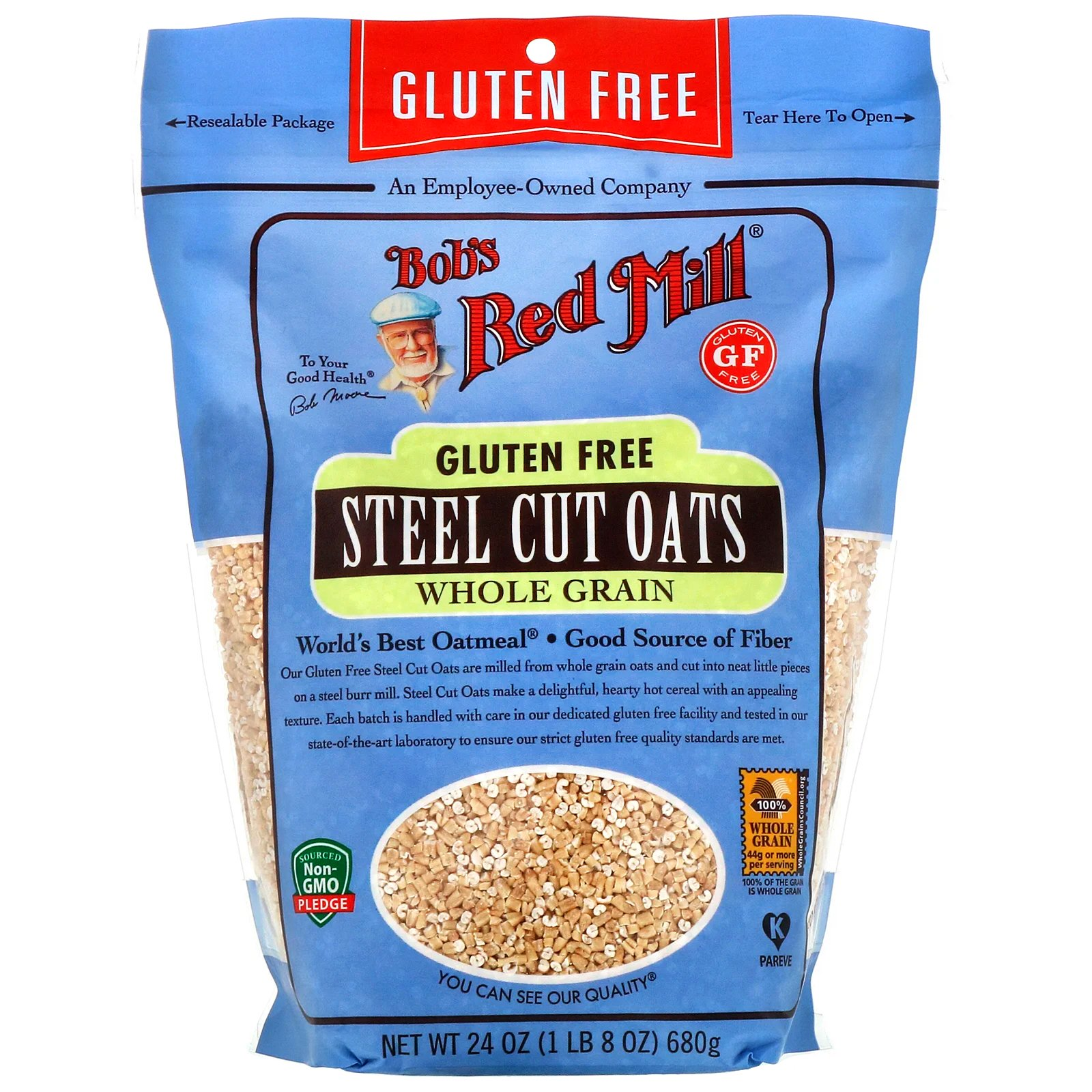 Bob's Red Mill, Gluten Free Steel Cut Oats, 24 oz (pack of ...