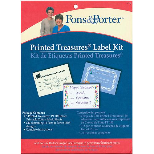 Fons & Porter Printed Treasures Label Kit