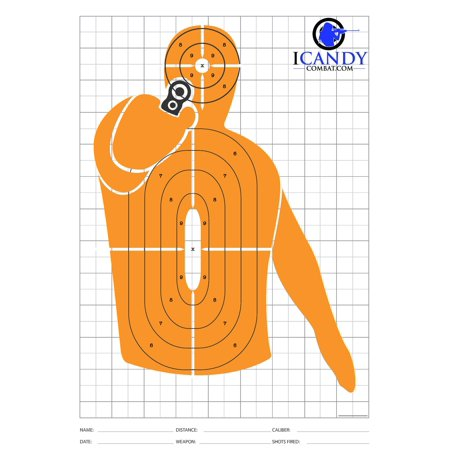 Orange Shooting Silhouette Targets For Shooting Firing Range Hand Gun Target