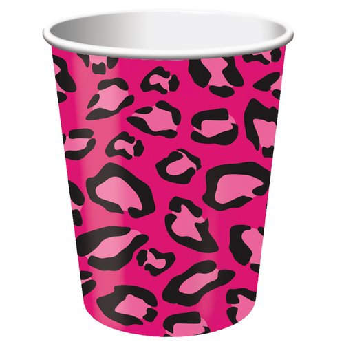 Creative Converting Girl Animal Prints 9 oz Paper Cups, 8 count