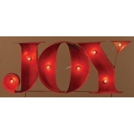45 decorative lighted red joy outdoor christmas - Joy Outdoor Christmas Decoration