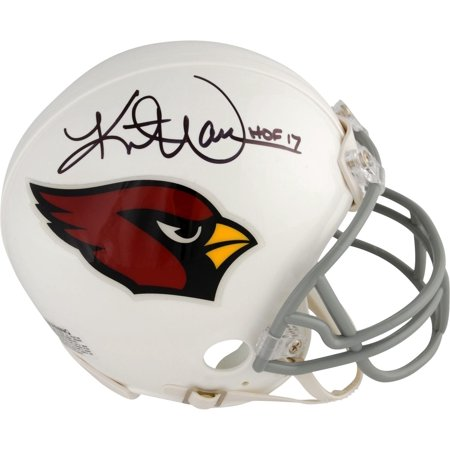 "Kurt Warner Arizona Cardinals Autographed Riddell Mini Helmet with ""HOF 17"" Inscription - Fanatics Authentic Certified"