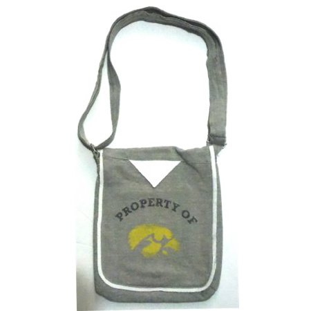 Iowa Hawkeyes NCAA Hoodie Crossbody Purse Handbag Team Logo