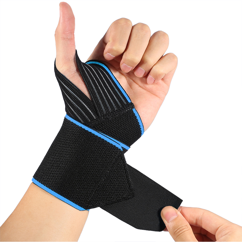 Wrist Wraps with Wider Thumb Loops, Adjustable Wrist Wraps Support Brace with Thumb Stabilizer for Crossfit, Powerlifting, One Pair Wrist Wraps Weightlifting for men and women