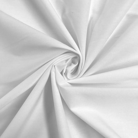 """Stretch Broadcloth Fabric Cotton Polyester Premium Apparel Quilting 59"""" Wide Sold By the Yard Wholesale (White)"""