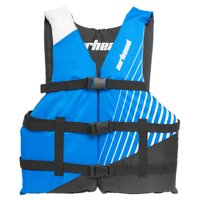 Airhead Ramp Childrens 50-90 Lb Boating Tubing Open Sided Blue Life Vest Jacket
