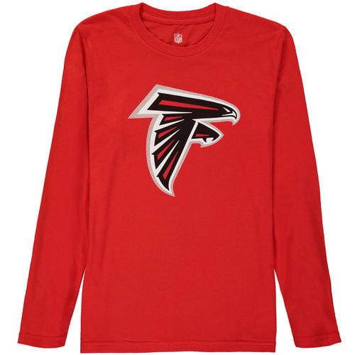 Atlanta Falcons Youth Team Large Logo Long Sleeve T-Shirt - Red