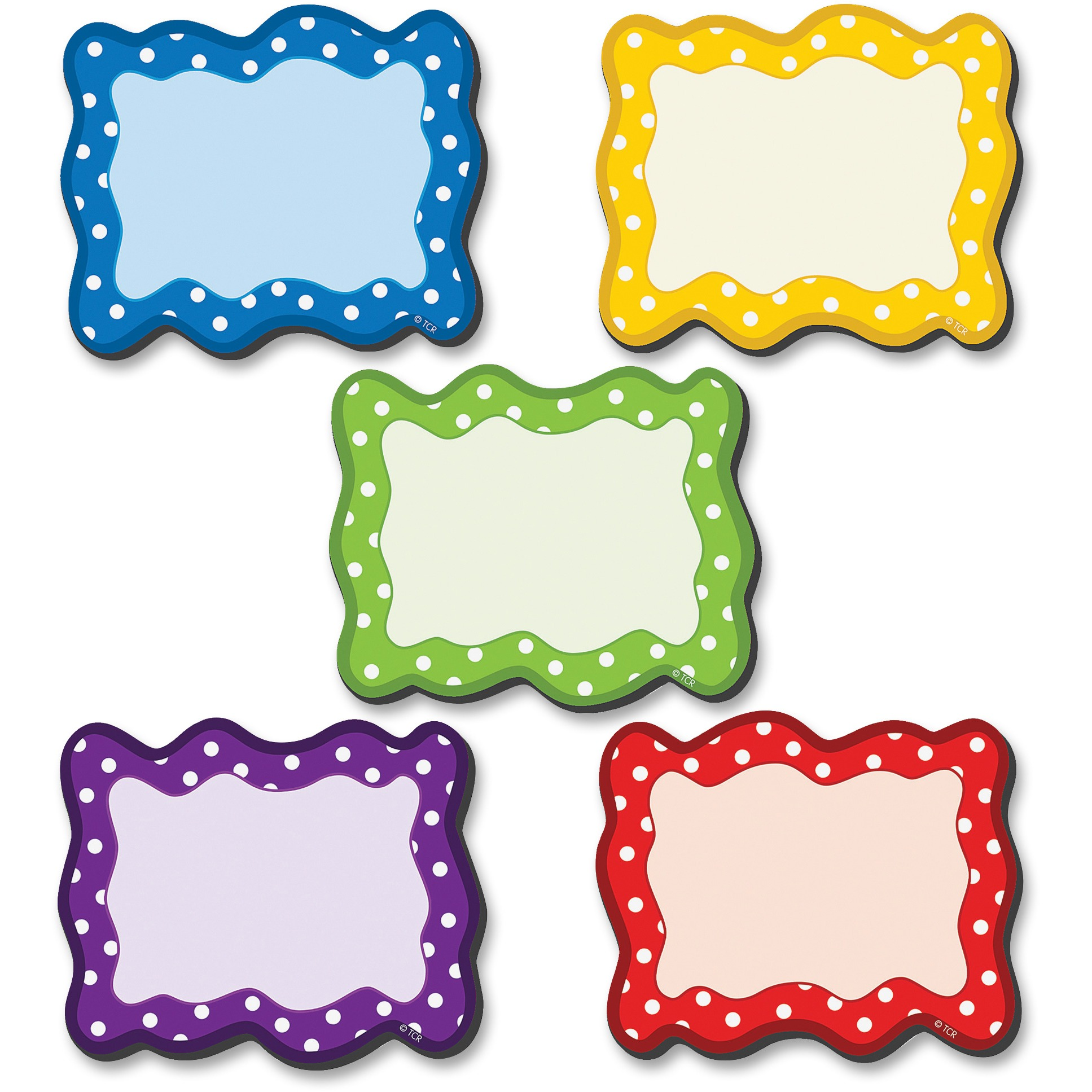 Teacher Created Resources Polka Dots Blank Magnet Cards
