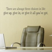 Belvedere Designs LLC Three Choices in life Wall Quotes  Decal