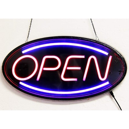 Delux NEON LED Open Sign with 2 Motion Mode (New Technology- Last Longer, Only use as Little as 1/8 Power of tranditional NEON Sign) - HL201 … - New Led Sign