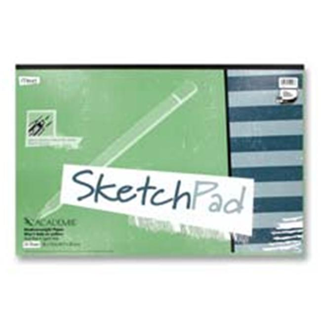 Mead MEA54016 Sketch Pad- Medium Weight- 18inchx12inch- 50 Sheets- White
