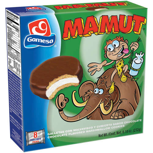 Gamesa: Chocolate Covered Creme Filled Cookies Mamut, 8.18 oz