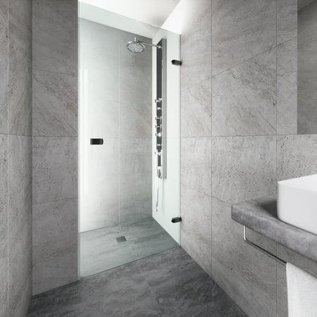 Vigo Tempo 30 Quot Adjustable Frameless Shower Door With Clear