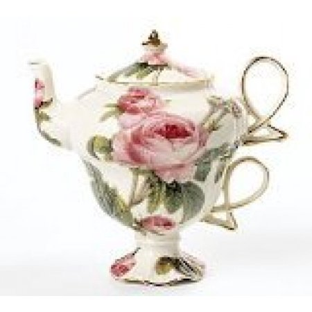 Burton & Burton Romantic Rose Teapot Duo (Royal Albert Rose Confetti Teapot)