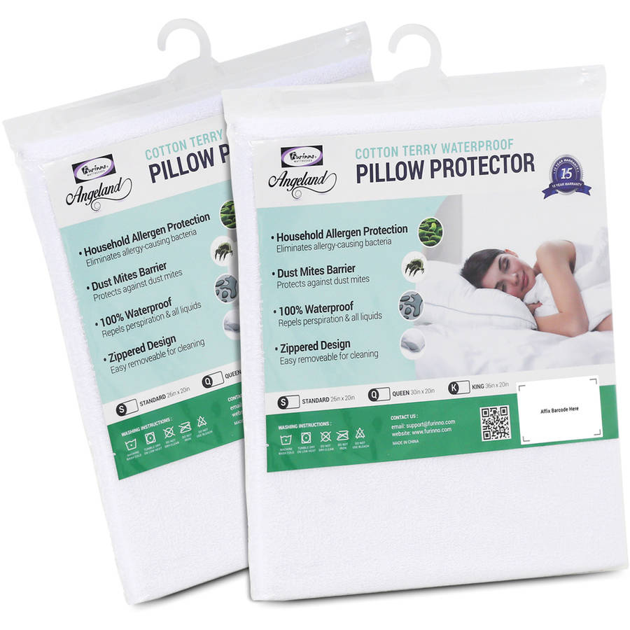 Furinno Angeland Terry Cloth Waterproof Pillow Protector, Pack of 2 by Furinno