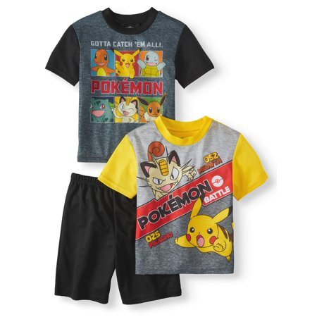 Boys' Pokemon 3 Piece Pajama Sleep Set (Little Boy & Big Boy) - Little Boys Christmas Pajamas