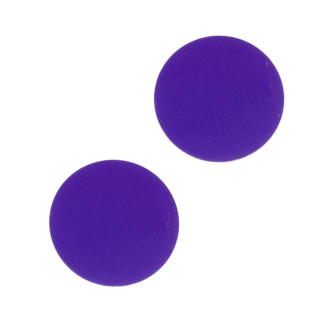 Lillypilly Anodized Aluminum Blank Circle Stamping Purple 19mm (2)