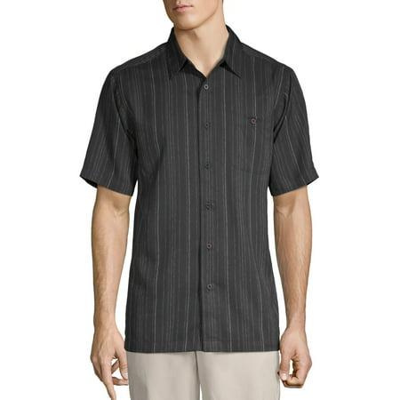George Men's Short Sleeve Microfiber Shirt, up to size 5XL (Mens 3xlt Shirts Short Sleeve)