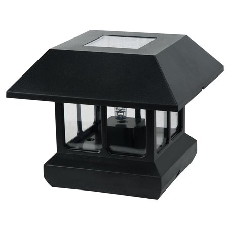 Northern International Black Plastic Solar Post Light With White LED Light A