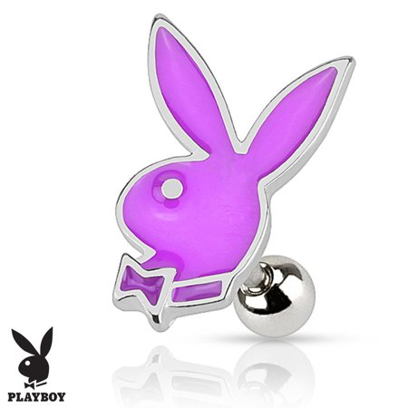 Purple Checkered Studs (16g Surgical Steel Glossy Colorful Epoxy Playboy Cartilage Stud Earring )