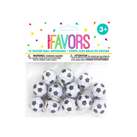 Soccer Ball Key Chain Party Favors, 12ct