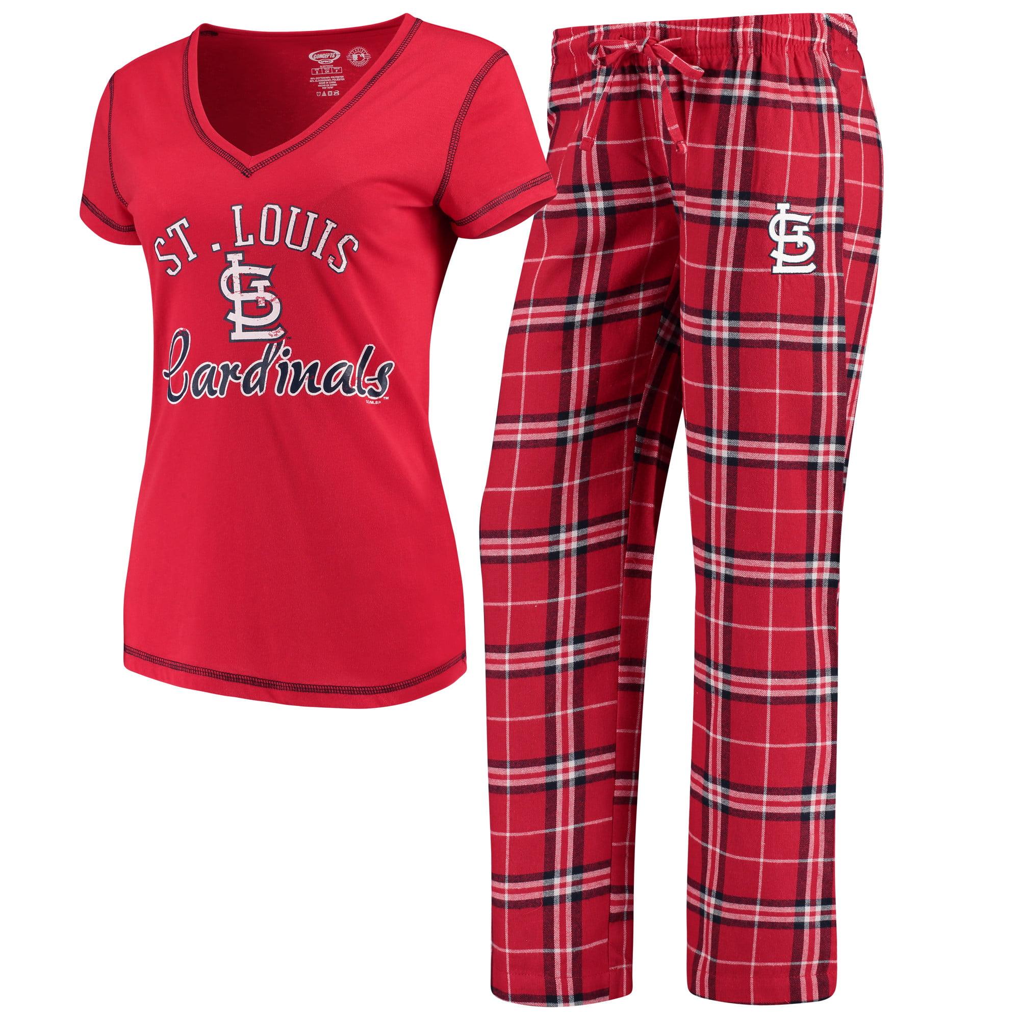 St. Louis Cardinals Concepts Sport Women's Duo Pants & Top Set - Red