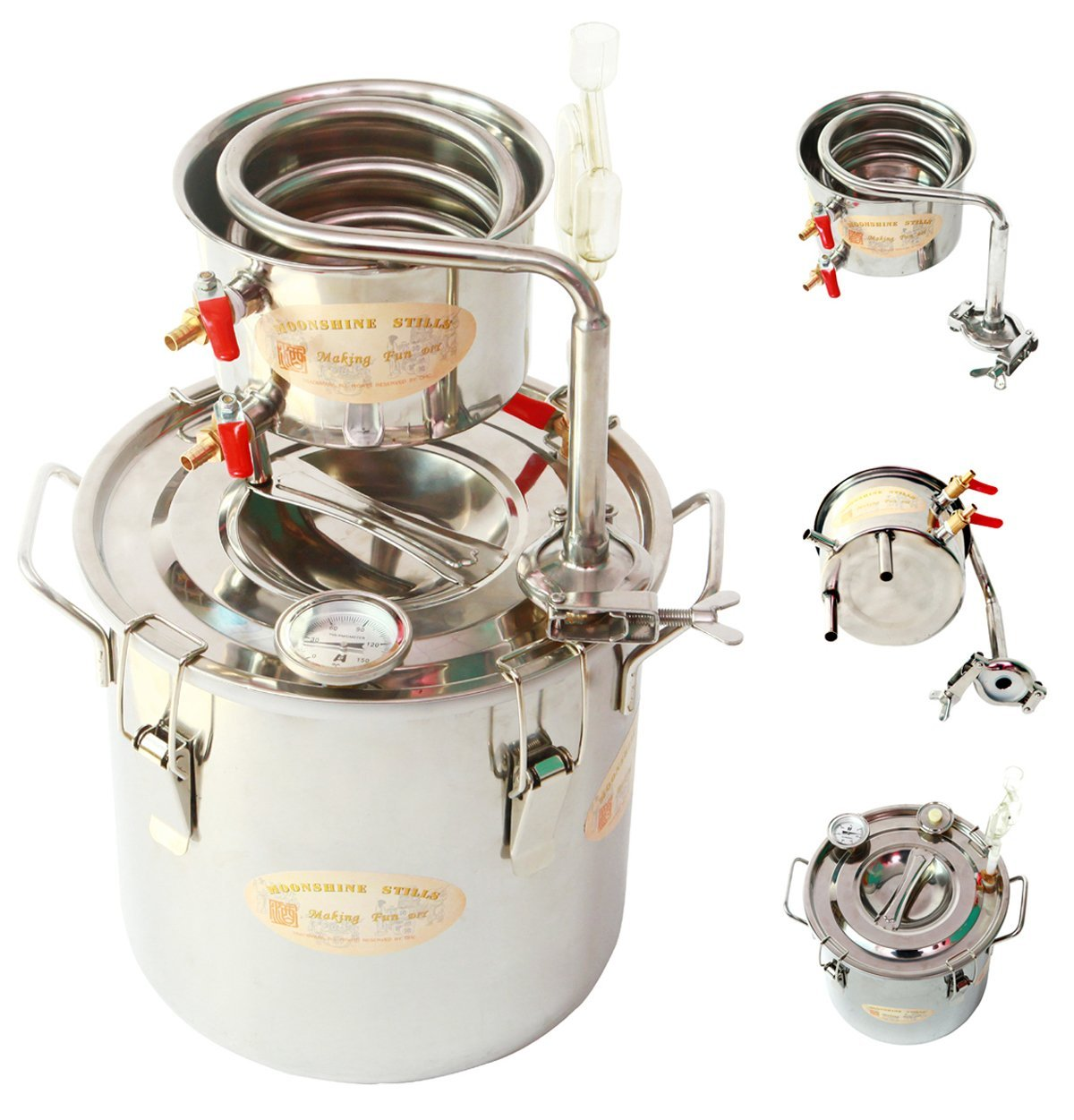 Moonshine Still Plans Simple Diagram Diy Gal Liters Home Alcohol Whiskey Distiller Stainless Steel Boiler Wine Making Kit