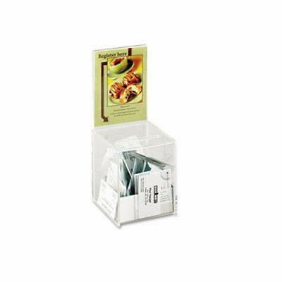 Safco Collection Box with Graphics Display, Clear (SAF4235CL)