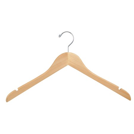 Wood Hangers Pack Of 100 Wishbone Wooden Retail Hanger With Chrome Hook No Bar 17 Natural Wood