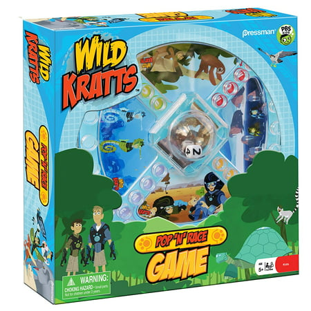 Games - Pressman Toy - Wild Kratts Pop 'N' Race New (Premium Wild Game)