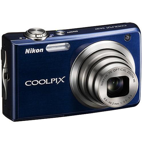 "Nikon CoolPix S630 Blue 12MP Digital Camera, 7x Optical Zoom & 2.7"" LCD Screen"