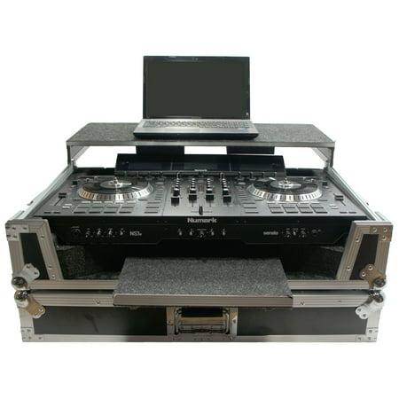 Ns7 Flight Case - Harmony HCNS7LTWFXTR Flight Glide Laptop Stand Combo DJ Case fits Numark NS7 II