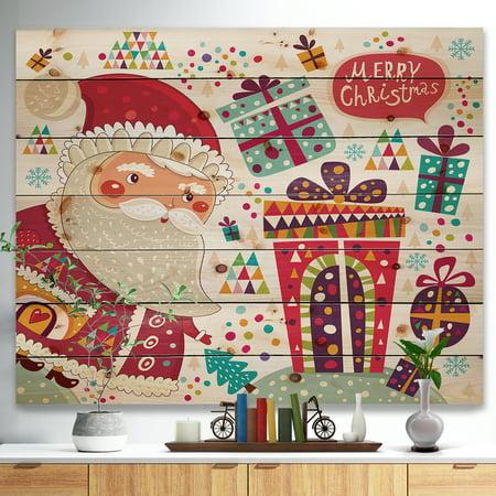 Design Art - Santa Claus with Christmas presents - image 4 de 5