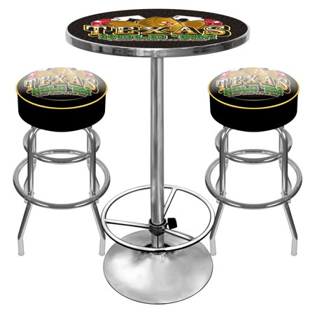 Texas Hold 'em Gameroom Combo - 2 Bar Stools and Table