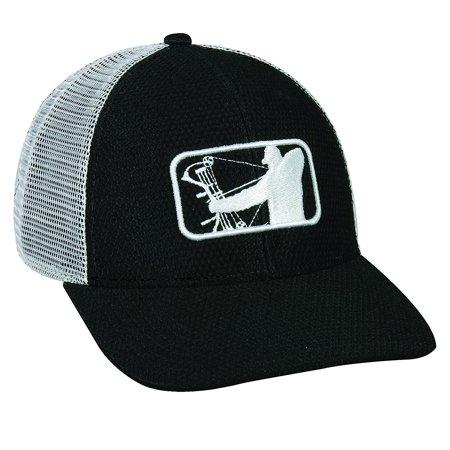 Major League Bowhunter Black White Mesh Back Bowhunting Hat - Walmart.com 56cbcd529bb