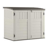 Suncast 34 cu. ft. Horizontal Outdoor Backyard Storage Shed, Vanilla